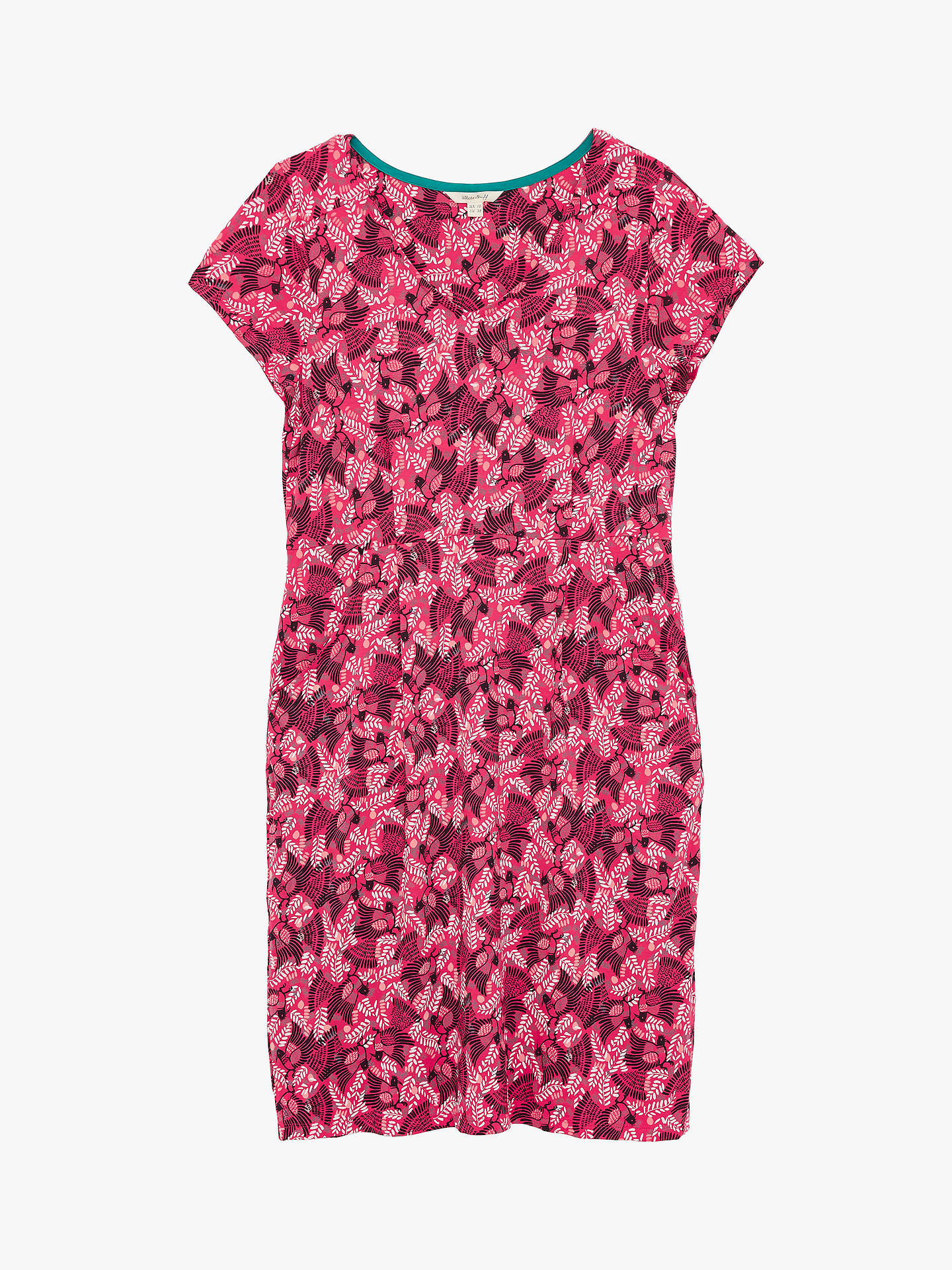 Buy White Stuff Chloe Floral Knee Length Dress, Raspberry Pink, 8 Online at johnlewis.com
