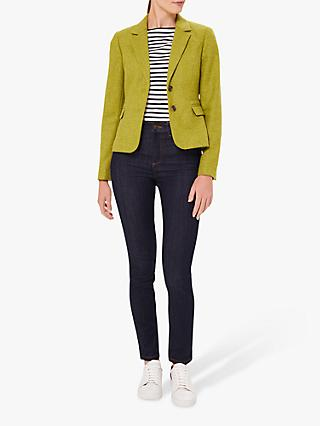 Hobbs Petite Hackness Wool Jacket, Lime Green