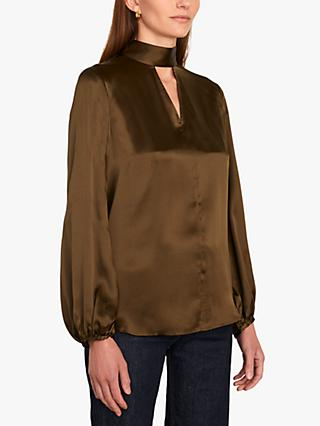 Jigsaw Scarf Front Blouse