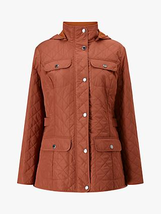 Four Seasons Hooded Quilted Jacket, Copper