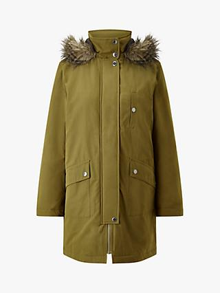 Four Seasons Caban Detachable Fur Trim Parka Jacket