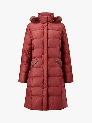 Four Seasons Puffer Faux Fur Hood Coat