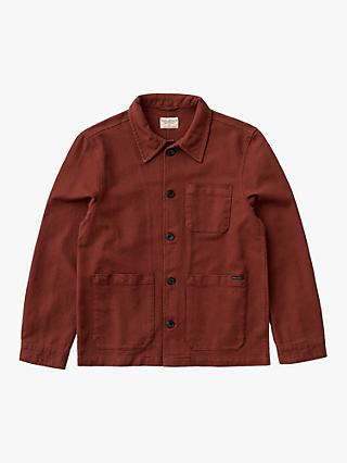 Nudie Jeans Barney Shirt Jacket, Brick Red
