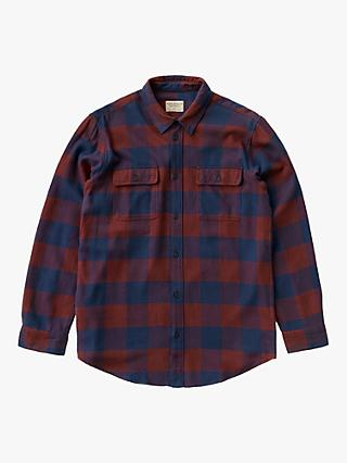 Nudie Jeans Gabriel Check Shirt, Red/Navy