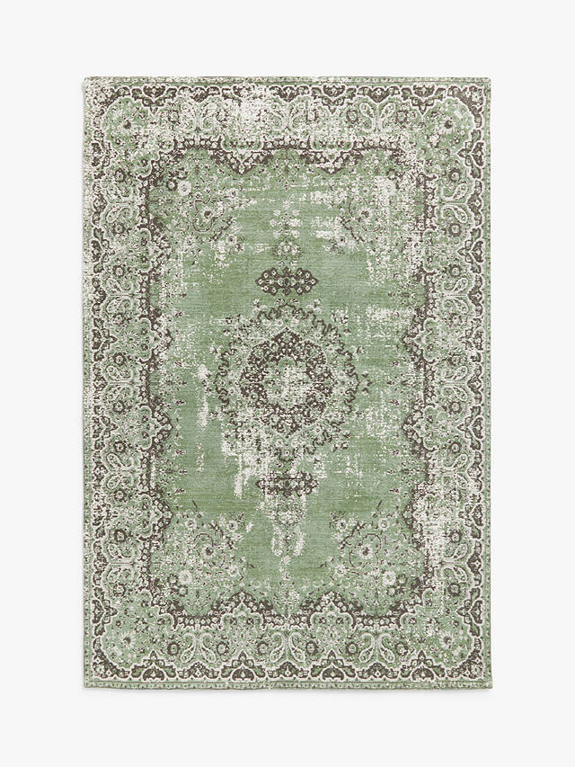 Buy ANYDAY John Lewis & Partners Jaipur Rug, Dusty Green, L150 x W90 cm Online at johnlewis.com