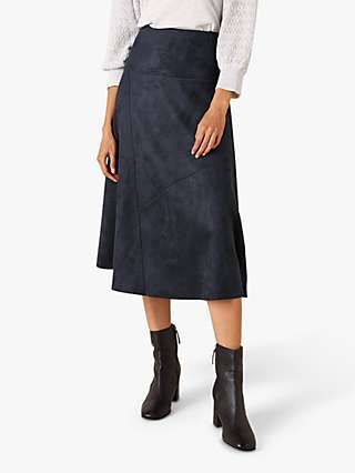 Monsoon Suedette Midi Skirt