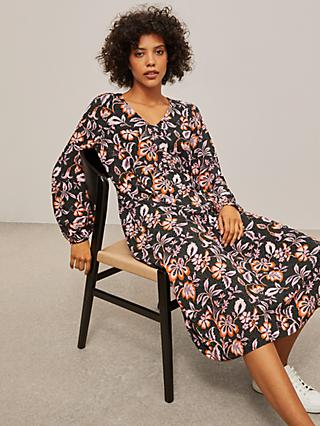 AND/OR Camilla 70's Floral Dress, Pink