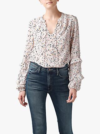 Lily and Lionel Rina Floral Print Blouse, Cream