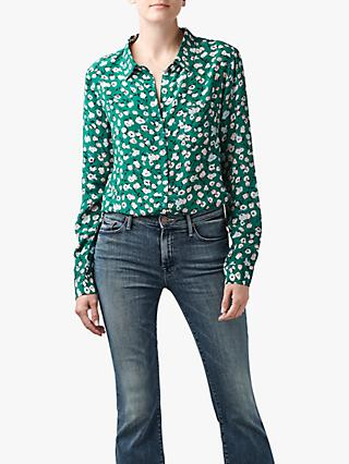 Lily and Lionel Classic Floral Shirt, Green