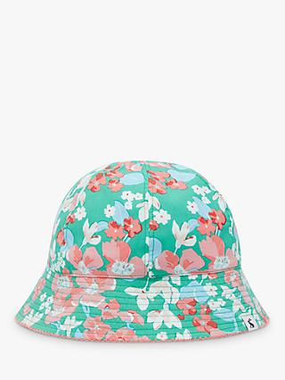 Little Joule Kids' Funseeker Floral Stripe Reversible Bucket Hat, Multi