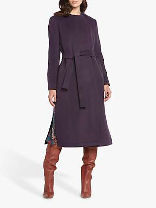 Helen McAlinden Rebecca Wool Cashmere Blend Coat, Mulberry