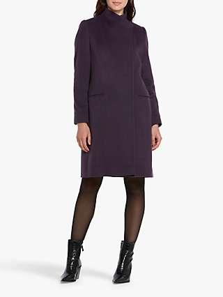Helen McAlinden Faye Wool Cashmere Blend Coat, Mulberry
