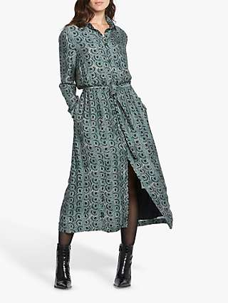 Helen McAlinden Rosie Abstract Print Shirt Dress, Teal