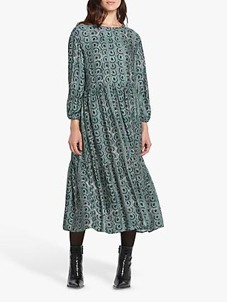 Helen McAlinden Louisa Abstract Print Dress, Teal