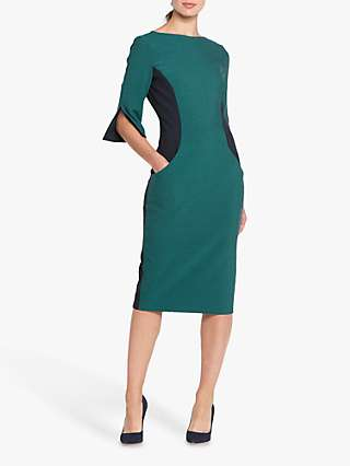 Helen McAlinden Vivienne Colour Block Dress, Navy/Teal