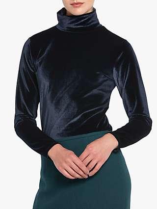 Helen McAlinden Cora Velvet Polo Neck Top