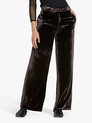 Helen McAlinden Naomi Velvet Trousers, Mulberry