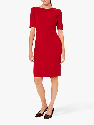 Hobbs Petite Geraldine Dress, Red