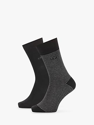 Calvin Klein Stripe Socks, Pack of 2