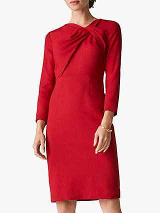 The Fold Ellingham Wool Crepe Dress, Red