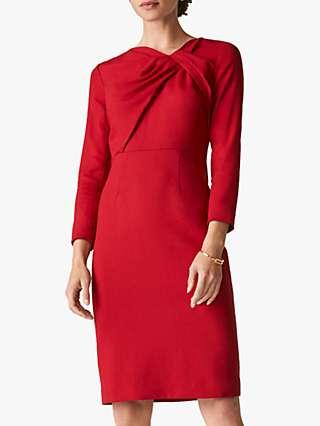 The Fold Ellingham Wool Crepe Dress, Red