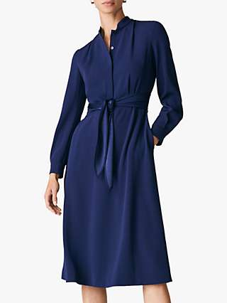 The Fold Remington Shirt Dress, Navy