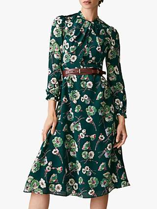 The Fold Haslemere Silk Dress, Green
