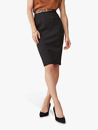 The Fold Wool Blend Pencil Skirt