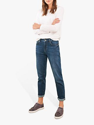 White Stuff Relaxed Slim Leg Jeans, Mid Denim