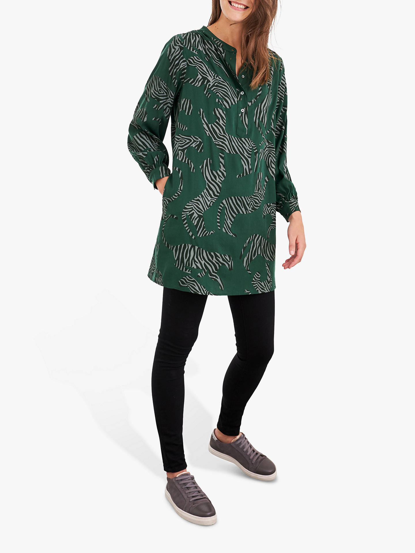 Buy White Stuff Pantha Tunic, Green/Multi, 6 Online at johnlewis.com