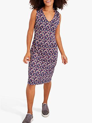 White Stuff Avery Leaf Print Dress
