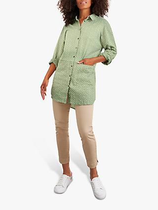 White Stuff Sewing Jersey Tunic Top, Green