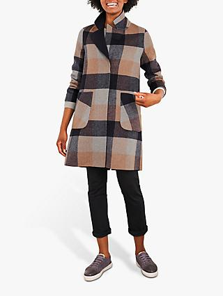 White Stuff Bista Reversible Wool Blend Coat, Neutral