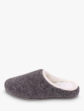 totes Fur Lined Clog Slippers, Grey