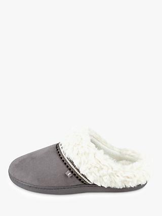 totes Suedette Mule Slippers, Grey