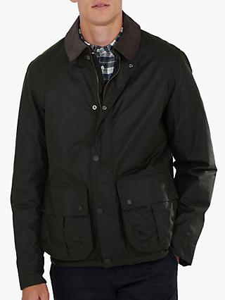 Barbour Allund Short Waxed Jacket, Green
