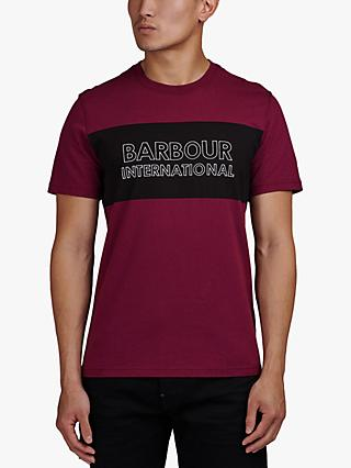 Barbour International Panel Logo Tee, Red