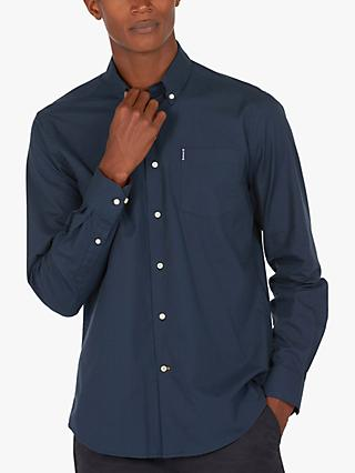 Barbour Lifestyle Cameron Tailored Button Down Collar Shirt, Navy