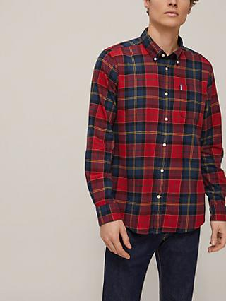 Barbour Lifestyle Tartan Tailored Button Down Collar Shirt, Red