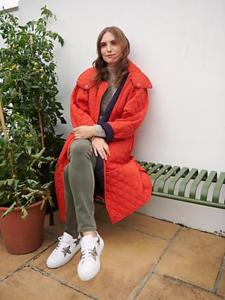 French Connection Aris Quilted Coat, Red