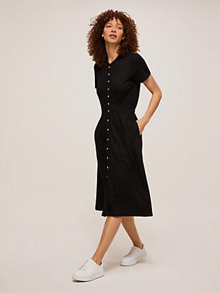 Somerset by Alice Temperley Jersey Shirt Dress, Black