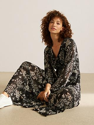 Somerset by Alice Temperley Tiger Fern Maxi Dress, Black
