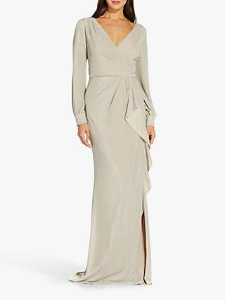 Adrianna Papell Metallic Maxi Dress, Champgane
