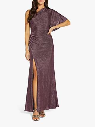 Adrianna Papell Metallic Maxi Dress, Amethyst