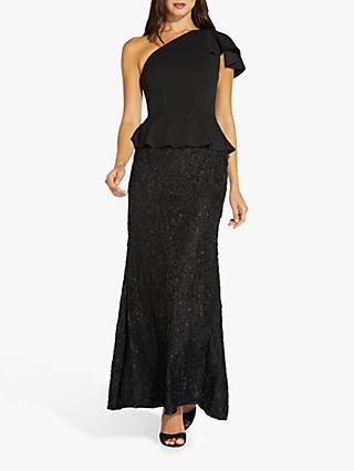 Adrianna Papell Mermaid Embellished Maxi Gown, Black