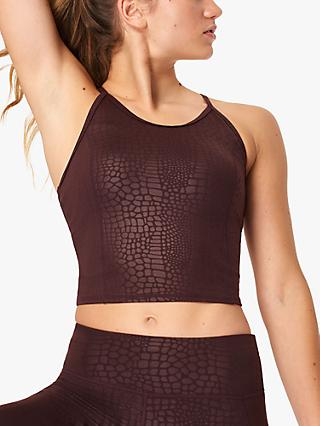 Sweaty Betty All Day Vest Top, Black Cherry