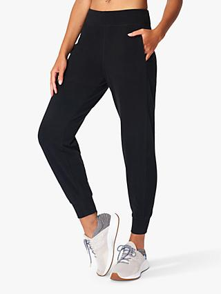 Sweaty Betty Gary Luxe Fleece Yoga Pants, Black