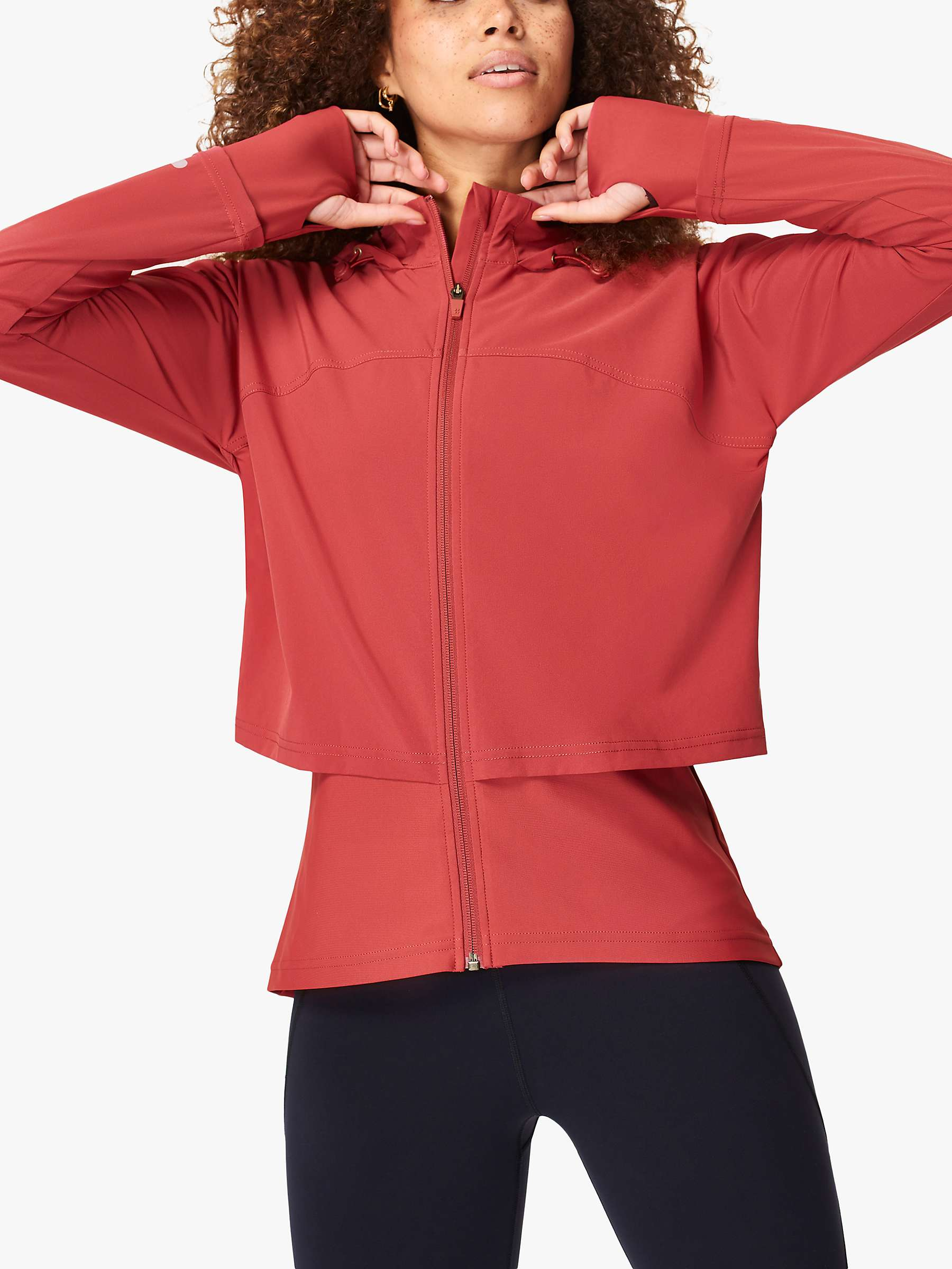 Sweaty Betty Fast Track Running Jacket, Renaissance Red