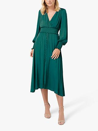Forever New Fit and Flare Midi Dress, Deep Ivy