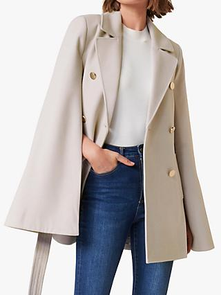 Forever New Jocelyn Cape Coat, Mink